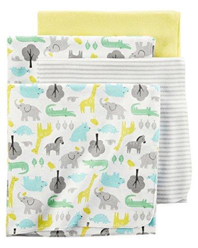 Carter's Flannel Receiving Blankets, Animals