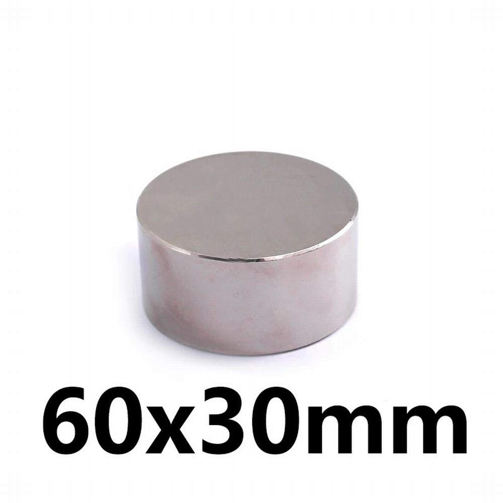 Silver - 1pcs Neodymium Magnet 60x30 Rare Earth Small Strong Round Permanent 60x30mm Fridge Electromagnet NdFeB Nickle Magnetic DISC