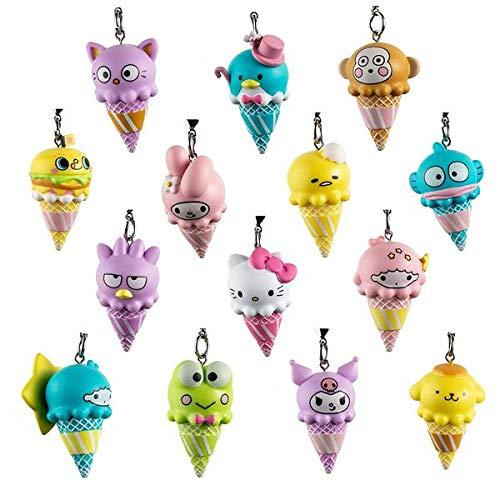 Kidrobot Hello Sanrio Ice Cream Cone Blind Box Keychain Series - One Box (Ice Cream Keychain)