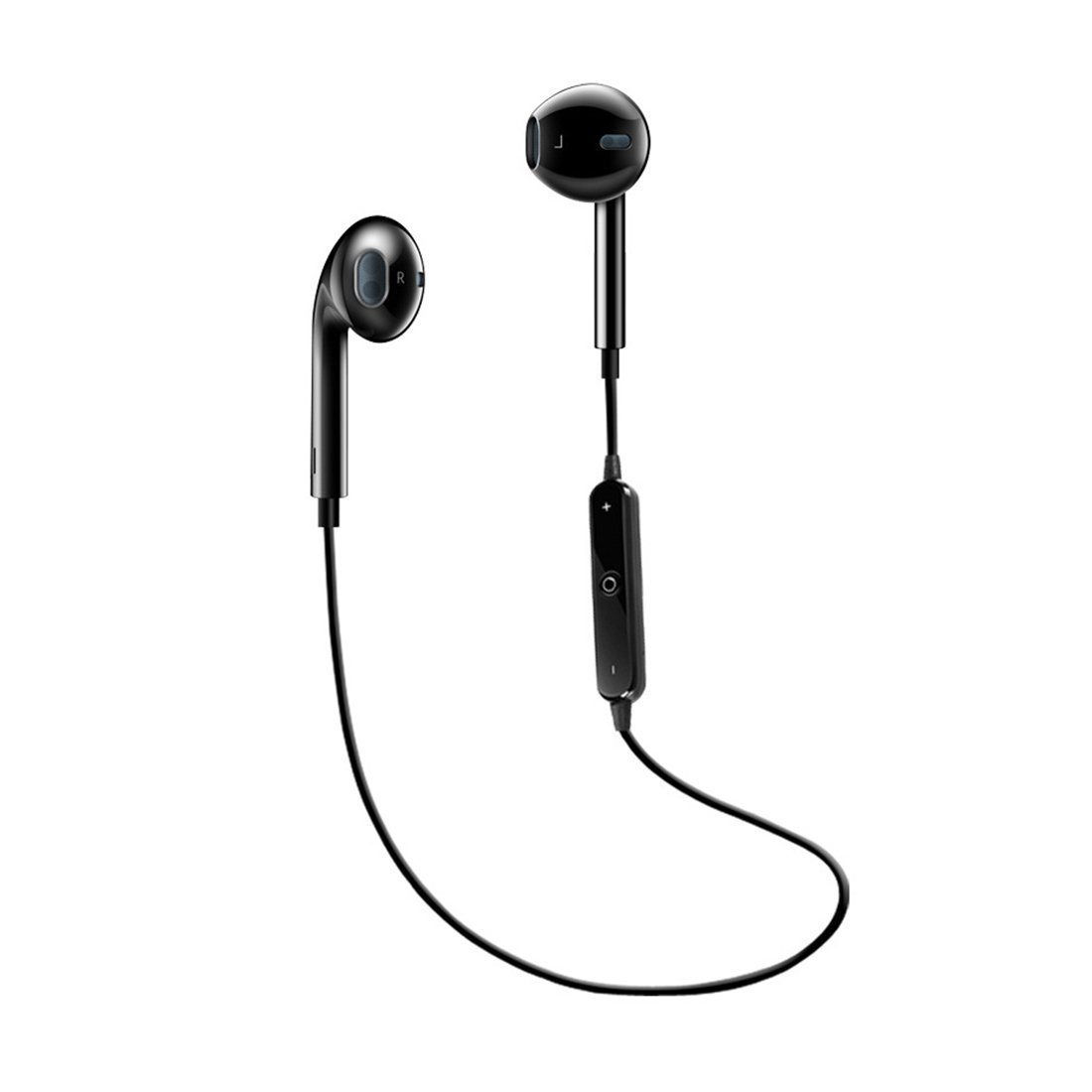 Bluetooth Headphones Wireless Sports Earphones Bluetooth 4.1 Earbuds Mini HD Stereo Headset Sweatproof Earphones with Mic for iPhone X 8 7 Samsung S7 S8 and Android phones gifts(Black) YiHao