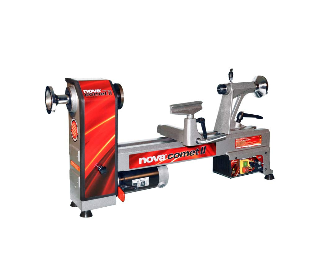 Nova 71118 Comet II - Midi Lathe Flexible Woodworking System, 12'', Powerful Electronic 3/4 HP variable speed by Nova
