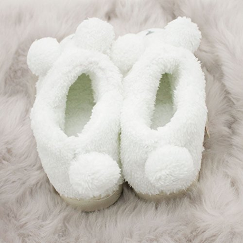Warm Indoor Women Slippers Cozy Booties Soft T High Sheep top Outdoor Couples House Plush Dream White wS1n0qt
