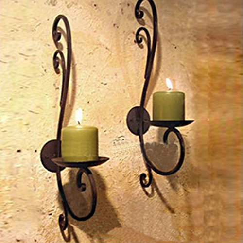 Iron Candle Holder Wall Art Candle Hanging Candle Holder Home Decoration Tealight Candle Stand (Candle holder 1#) (Iron Tealight Holder)