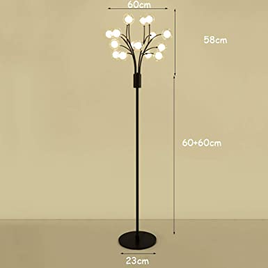 Amazon.com: Lámpara de pie LED vertical simple y moderna ...