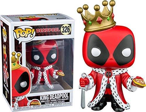 Funko Pop Marvel: King Deadpool Collectible Figure, Multicolor