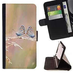 KingStore / Leather Etui en cuir / Sony Xperia Z3 D6603 / Butterfly Dual