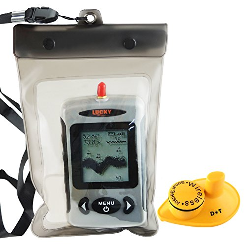 Lucky FFW-718 Wireless Portable Sonar Fish Finder with Dot Matrix 40m Range Fish Finders And Other Electronics