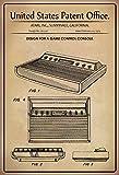US Patente - Design for A Game Control Console - Entwurf für ein Eine Spielkonsole - Atari, California, 1979 - Design No 251.143 - schild aus blech, metal sign, tin