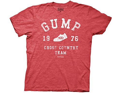 (Ripple Junction Forrest Gump Cross Country Adult T-Shirt Medium Red)