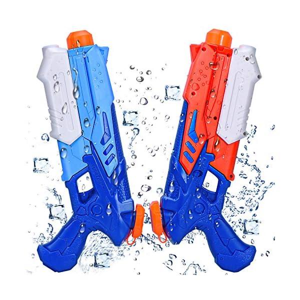 Joyjoz Pistole ad Acqua 2 PCS Pistola ad Acqua Blaster per Piscina Estiva All'aperto Divertimento Acqua sulla Spiaggia… 1 spesavip