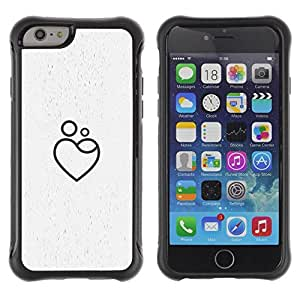 Suave TPU GEL Carcasa Funda Silicona Blando Estuche Caso de protección (para) Apple Iphone 6 PLUS 5.5 / CECELL Phone case / / love Heart-shaped /