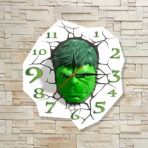 Best Original Costume Ideas (The Incredible Hulk 11.8'' Original Handmade Wall Clock - Get unique décor for home or office – Best gift ideas for kids, friends, parents and your soul mates)