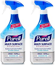 PURELL Multi-Surface Disinfectant Spray, Fragrance Free, 28 fl oz Spray Bottle with Trigger Sprayer (Pack of 2