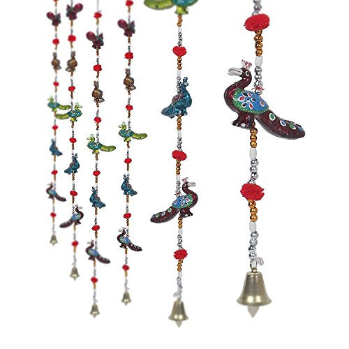 Garden Of Arts Indian Traditional Hanging 5 Layer Door Hanging, Wall Hanging, Decorative Hanging of 28 Inches