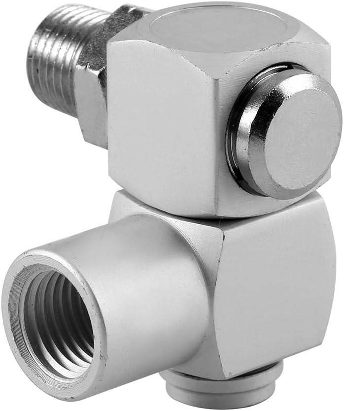 "idalinya 360 4pcs/Set Aluminum 1/4\"" Universal Swivel Air Hose Connector Adapter Tool Npt Male Fitting X 1/4 Female Line"