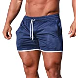 AMSKY ❤Men's Gym Workout Boxing Sport Fitness Jogging Elastic Stretchy Bodybuilding Muscle Bermuda Short