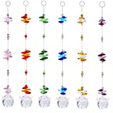 Aiskaer 6PCS 1.2 Inch Colorful Chandelier Crystal Ball Prisms Pendant, Chandelier Decor Hanging Prism Ornaments,Chandelier Crystals Ball window Prisms Rainbow Octogon Chakra Suncatcher