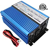 AIMS Power PWRI60012120s Roll Over Image to Zoom 600 WATT Pure SINE Inverter 12 VDC to 120 VAC ETL Listed USB, Cables and Remote Port