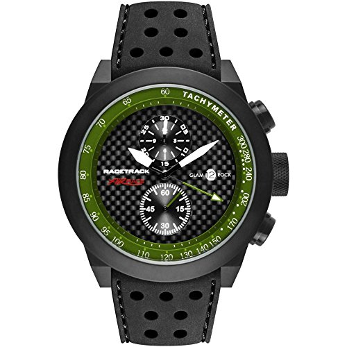 Glam Rock Grt29117f-N Men's Racetrack Air Race Chrono Blk Sil Carbon Fiber Dial Blk Aluminum Watch
