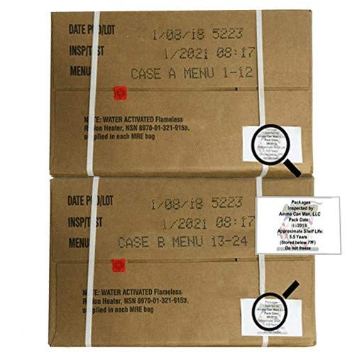 Ultimate 2018 US Military MRE Cases Inspection Date 08/2018 or Newer (Cases A&B) by Ammo Can Man (Image #3)