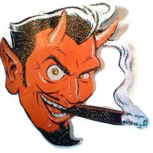 [Halloween Ornament Decoration Smoking Red Devil] (Scary Halloween Witches)