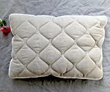 Organic wool pillow with linen cover quilted wool filling luxury bedding Soft Natural Eco friendly pillows