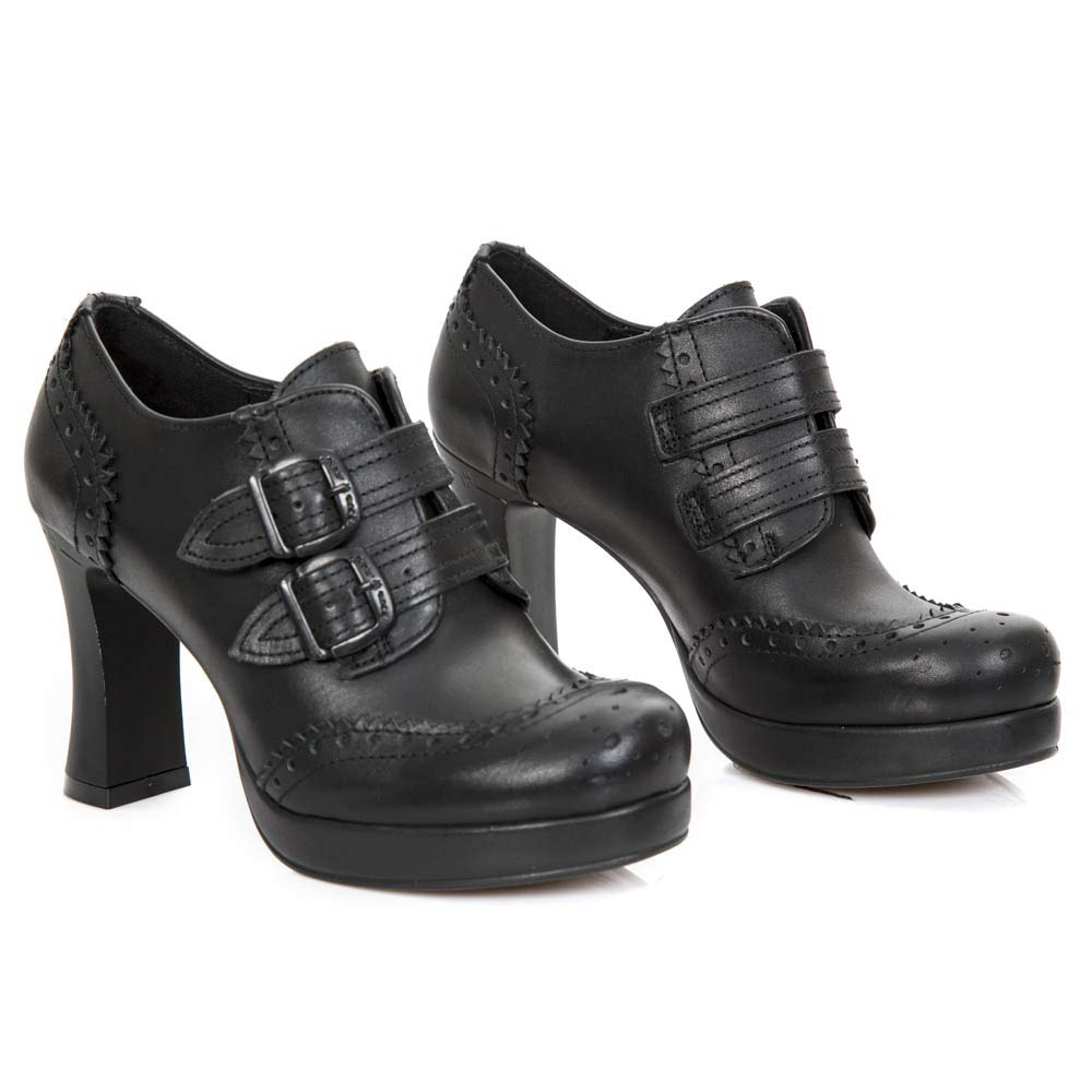 New Rock M.GOTH5830-S2 Schuhe Stiefeletten Damen Mädchen Leder Schwarz Ferse Punk Heavy Gotik  | Verschiedene Arten und Stile