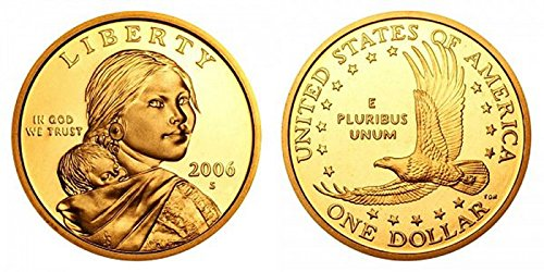 2006 S Sacagawea Gem Proof Dollar PF-1 US Mint UCAM