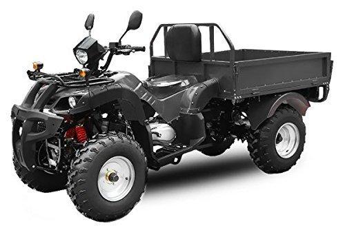 AUFGEBAUT STRAßENZULASSUNG EEC Jinling Dumper 150cc Automatik Kipper Quad ATV (Schwarz)