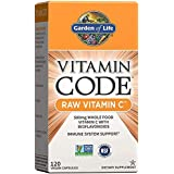 Garden of Life Vitamin C - Vitamin Code Raw Vitamin C - 120 Vegan Capsules, 500mg Whole Food Vitamin C with Bioflavonoids, Fr