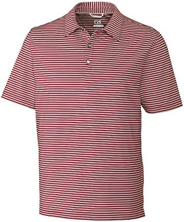 Cutter & Buck Men`s Big and Tall Big & Tall 50+ UPF Division Stripe Polo Shirt