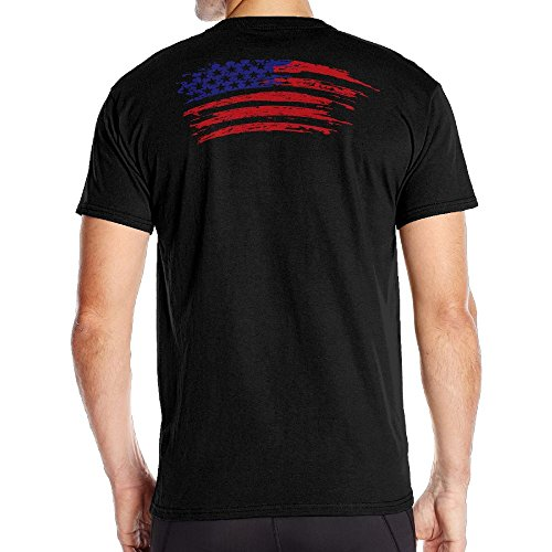 Mens American Flag With Rainbow Cool Tees Black Size - Lebanon Naked Men