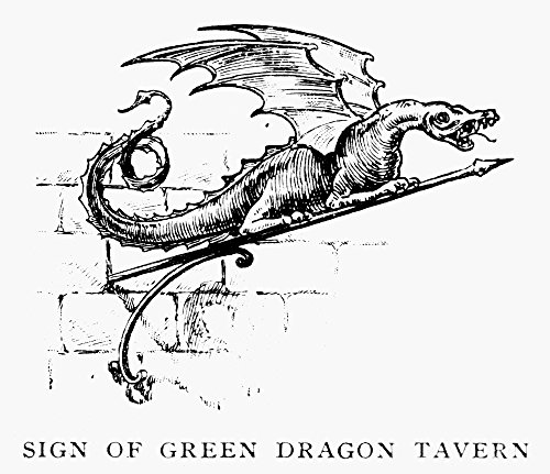 Boston Tavern Sign Nsign Of The Green Dragon Tavern In BostonS North End Where The Boston Tea Party Was Planned And From Where Paul Revere Started His Ride Wood Engraving 19Th Century Poster Print by