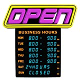 Greenlight Innovations Hours Open Sign Business & Store Sign (GLI 1057)