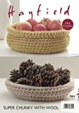 Sirdar/Hayfield Super Chunky with Wool 100g Crochet Pattern - 7804 Cats Nest & Storage Baskets by Sirdar/Hayfield