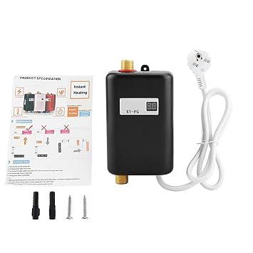 Mini Durchlauferhitzer Warmwasserbereiter, 220V 3400W Mini Elektro Tank  Soforter Durchlauferhitzer Für Badezimmer Küche(Schwarz