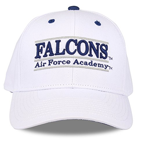 The Game NCAA Air Force Falcons Unisex NCAA bar Design Hat, White, Adjustable