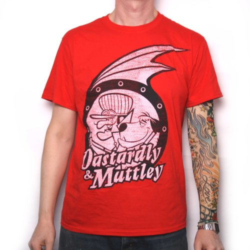 Old Skool Hooligans Dastardley & Mutley T-Shirt 100% Official