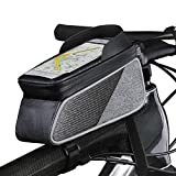 ROTTO Bicycle Bag Bike Frame Bag Top Tube Phone Bags Sensitive Touch Screen Waterproof with Rain Cover