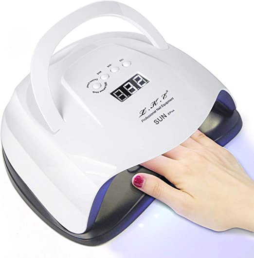 80W LED UV Lamps for Gel Nail Dryer - The Strongest Easy to Carry UV Nail Lamp