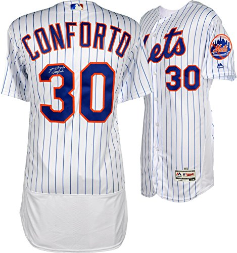 Michael Conforto New York Mets Autographed Majestic White Authentic Jersey - Fanatics Authentic Certified ()