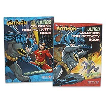 Amazon 2pc Dc Comics Batman Coloring Book 96pg Each Toys Games