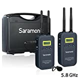 Saramonic VMicLink5 HiFi 5.8GHz Lavalier Lapel Wireless Microphone System for News Gathering & Reporting work with Canon 5D II/5D III, Canon 6D, Panasonic GH5/GH4, Nikon Sony DSLR SLR Camera Camcorder