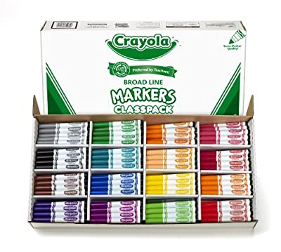 Crayola 256ct Classpack 16 colors Broad Line Markers | Educational Computers