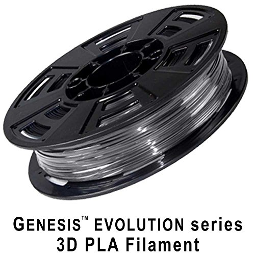 Evolution Spools (GENESIS 3D EVOLUTION PLA-1KG1.75-BLK04 PLA 3D Printer Filament, +/- 0.03 mm, 1KG Spool, 1.75 mm, Black)