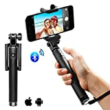 Wingco Selfie Stick oldable Extendable Bluetooth Selfie Stick with Built-in Remote Shutter iPhone SE,6S,6S Plus,6,6 Plus,5S, GalaxyS7, Galaxy S7 Edge, Nexus 6p, LG G5 and More