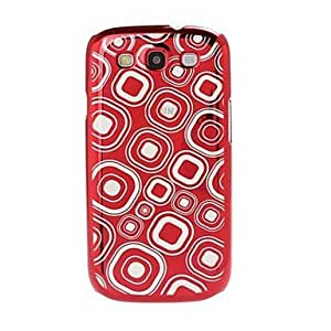 LZX Geometric Pattern Radium Carving Hard Case for Samsung Galaxy S3 i9300 , Red