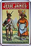 PRICE CUT JESSE JAMES THE MISSOURI OUTLAW ORIG 1890'S LB BLACK AMERICANA POSTER