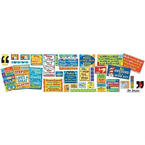 Paper Magic Eureka Dr. Seuss 35 Quotes Bulletin Board Sets Bulletin Board Decorations