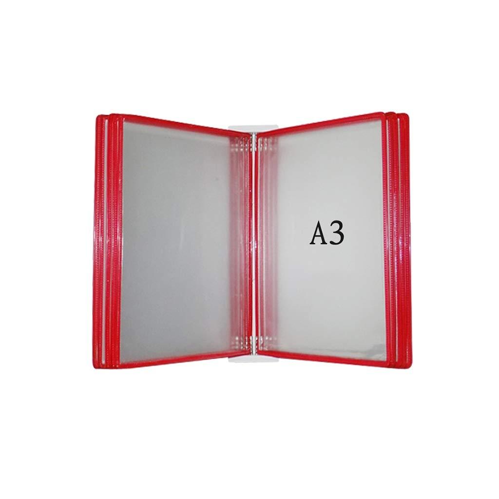 Flip File Holder, Wall-Mounted Magnetic Display (PVC+Metal)